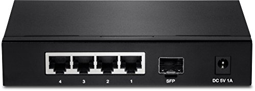 TRENDnet 4-Port Gigabit Switch with SFP Slot - 4 Ports - 1 x