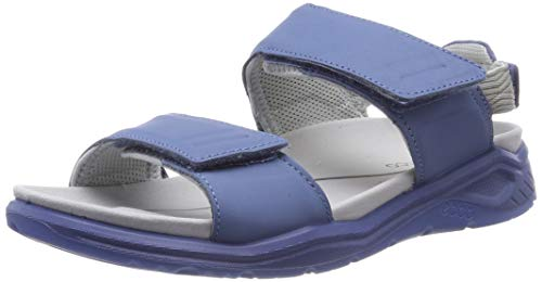 ECCO Women's X-Trinsic Sandal, Retro Blue Leather, 41 M EU (10-10.5 US)