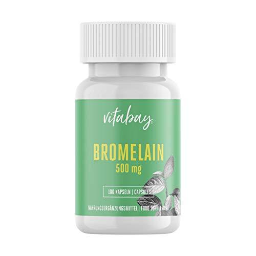 Bromelain 500mg 1200 F.I.P, natürliches Ananasenzym, Hochdosiert - 100 Vegane Kapseln