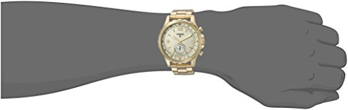 31YcLRsICgL - Fossil Q Men's Nate Stainless Steel Hybrid Smartwatch, Color: Gold-Tone (Model: FTW1142)