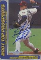 Brandon Duckworth Scranton/W-B Red Barons - Phillies Affiliate 2001 Choice Autographed Card - Minor League Card. This item comes with a certificate of authenticity from Autograph-Sports. Autographed