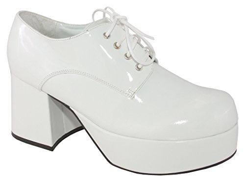 Pimp Adult Costume Shoes White - Large (Pimp Costume White)