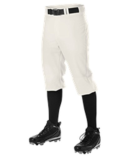 Vintage Baseball Pants - Alleson Adult Knicker Pro Warp Knit Baseball Pant Vintage White XL PWRPKP PWRPKP-VW-XL
