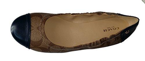 Coach Callie 12cm Veau Ballet Sandales Plates Chaussures 7,5 M