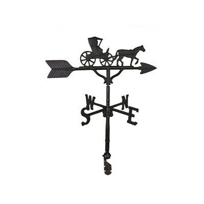 Montague Metal Products 32-Inch Weathervane with Satin Black Country Doctor Ornament