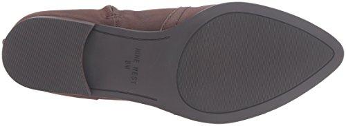 Nine West Women's Nicolah Leather Knee-High Boot Dark Brown free shipping sneakernews fake cheap price iBtRb