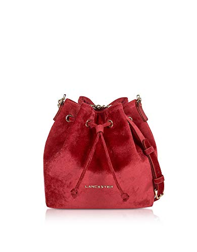 Hombro Terciopelo Rojo Paris Lancaster 51909rouge Bolso Mujer De OAFZq1qwx