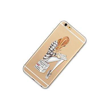 Fundas y estuches para teléfonos móviles, Caso para el iphone 7 más 7 tapa transparente de la cubierta de la caja de la contraportada del caso suave suave para el iphone de la ( Modelos Compatibles :  IPhone 5c