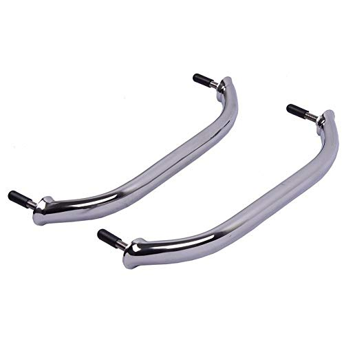 (Hoffen 2 Pack Stainless Steel 12 Inch Handle Handrail Oval Grab Bar,Pefectly Polished Multipurpose Hardware)