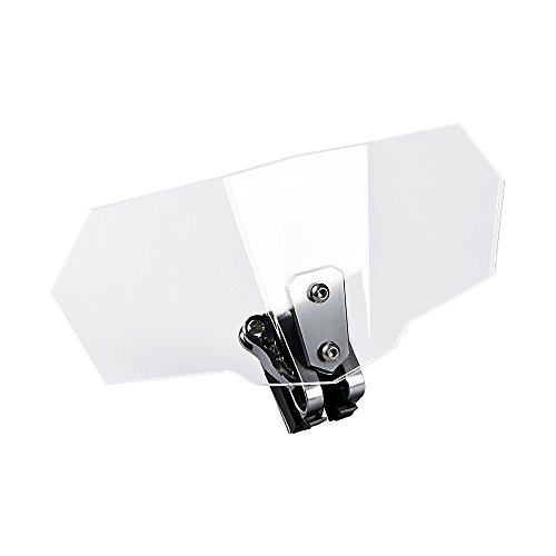 Motorcycle Adjustable Clip On Extension Windshield Wind Deflector w/Mounting Clip Kit