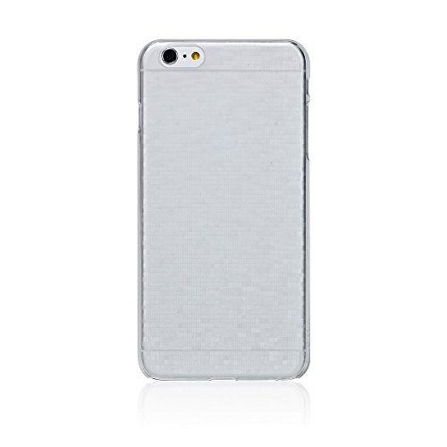 Frosted White Pattern - Bling My Thing Translucent Case for iPhone 6 Plus - Retail Packaging - Frosted White/Mosaic Pattern