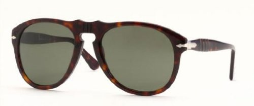 Persol Men's Classic PO649 Sunglasses,Tortoise Frame/Black Lens,one - Persol 649 Sunglasses