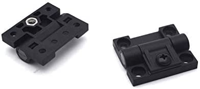 Antrader 2 Pack 43mmx36mm 4 Countersunk Holes Plastic Adjustable Torque Position Control E6-10-301-20 Series Hinge Black Door Hinges Guangzhou Openfind Electronic Commerce CO LTD