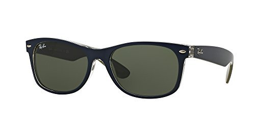 Ray Ban RB2132 NEW WAYFARER 6188 52M Mt Blue/Military Green/Green Sunglasses For Men For Women by Ray-Ban (Image #1)