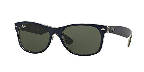 Ray Ban RB2132 NEW WAYFARER 6188 52M Mt Blue/Military Green/Green Sunglasses For Men For Women