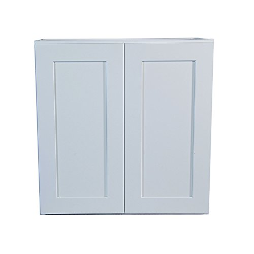 Design House 543165 Brookings Unassembled Shaker Wall 33x36x12, White RTA Kitchen Cabinets, 36 in in,