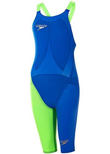 Speedo LZR Elite 2 Openback Kneeskin - Beautiful Blue/Green Fizz イギリスサイズ27L   B07F5PKK6K