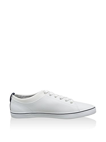 Fred Perry Hallam Leather White Blue Blanco