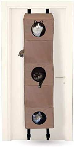 K H Pet Products Hangin Cat Condo Small Tan 16 X 16 X 65 Cat Furniture Cat Houses And Condos Pet Supplies