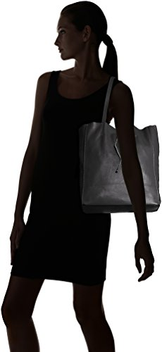 Tote Woman's In Ctm Genuine 33x35x15 nero Bag Black Soft Italy Made Cm Leather q5ddxf