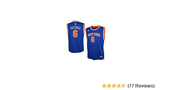 big sale 6e821 2b97d adidas Kristaps Porzingis New York Knicks Youth Blue Jersey