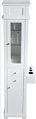 Price comparison product image Savvy SAV-405 Harrison Salon Shaker Tower Styling Station + Free Cape Co. Apron ($20 value) In (WHITE)