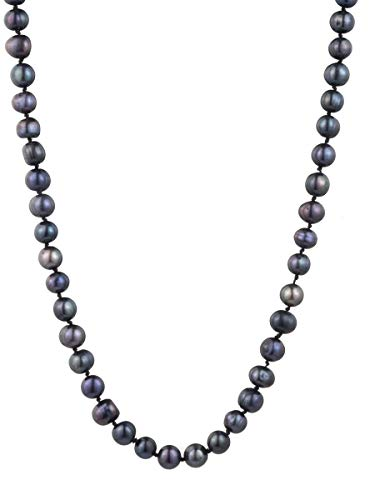 Carolee Women's 10mm Fresh Water Pearl Knotted Strand Necklace, Gold/Black, 64