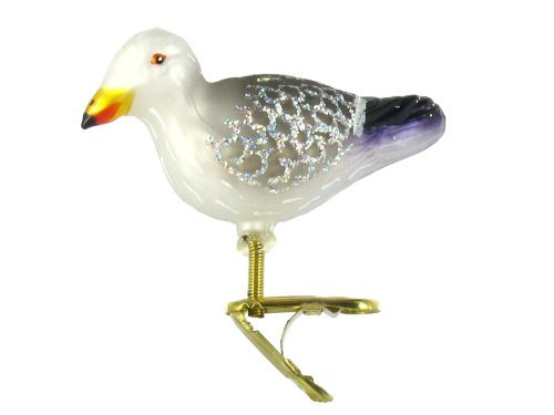 Old World Christmas Ornaments: Sea Gull Glass Blown Ornaments for Christmas Tree