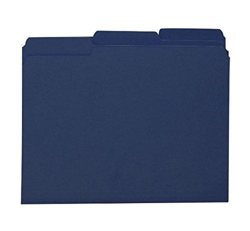Smead Interior File Folder, 1/3-Cut Tab, Letter Size, Navy, 100 per Box (10279)