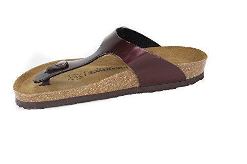 JOE N JOYCE Rio Synsoft Soft-Fußbett Sandalen Bordeaux Größe 39 Normal
