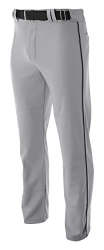 A4 N6162-GYB Pro-Style Open Bottom Baseball Pants, Medium