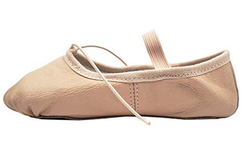 Dance You 1102-2 Leather Split Sole Ballet Shoes/Slippers for Girls(Toddler/Little Kid/Big Kid),Pink -