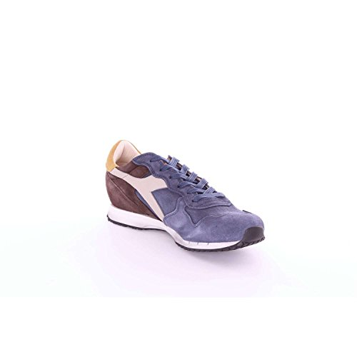 and man BASKET USED MI Diadora Heritage for woman Blu Sneakers WxnfqF4Hw6