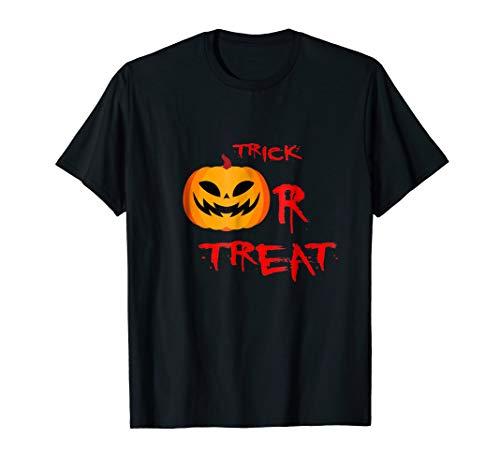 Halloween pimpkin trick or treat t shirt ()
