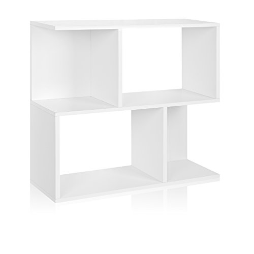 Way Basics Eco Soho Bookcase, Side Table and Storage Shelf, White (made from sustainable non-toxic zBoard paperboard)