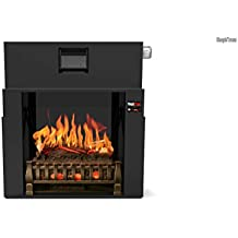 MOST REALISTIC Electric Fireplace INSERT on Amazon! 21 Flames Sampled From REAL Fires w/ Sound! 3D Holographic Flames for Lifelike Appearance w/ Bluetooth App, Touchscreen & Heater!