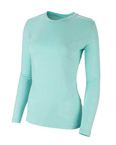 Bamboo Long Sleeve Shirt - Glade Outdoor Women Sun Protection Hiking Shirt Lightweight Bamboo Long Sleeve with UPF 35+, Moisture Wicking, Antibacterial, and Quick Dry. for The Mountain Trail, Summer, and Camping (Large, Sage)
