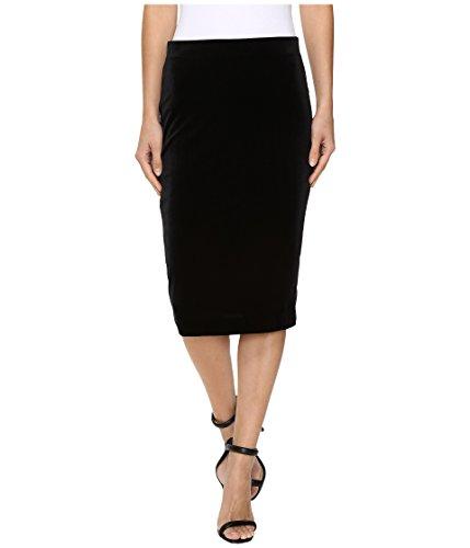 Three Dots Women's Velvet Skirt Black Skirt