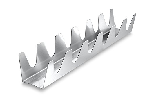 The Taco Rack Chef Series Six Shooter, 18/8 Stainless Steel, 13.5-Inches x 2-Inches x 2-Inches