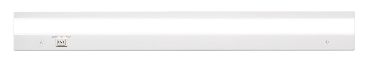 WAC Lighting BA-ACLED24-27/30WT Duo ACLED Dual Color Option Bar in White Finish; 2700K and 3000K, 24 Inches