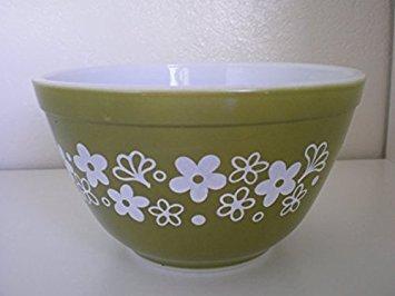 "Vintage Pyrex (No. 403) ""Crazy Daisy"" Nesting Mixing Serving Bowl (2.5 Qts)"