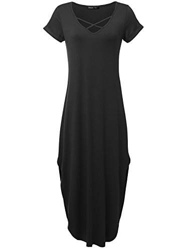 long black fitted maternity dress - 6