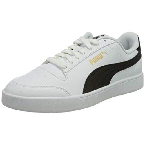 chollos oferta descuentos barato PUMA Shuffle Zapatillas Unisex Adulto Blanco White Black Team Gold 40 EU