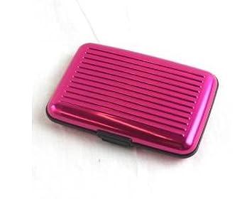 FRE 11x7x2CM 6 Steckplä tze kleine tragbare Aluminium Metall-ID Name Card Inhaber Kreditkartentasche fü r Bussiness Travel-lila