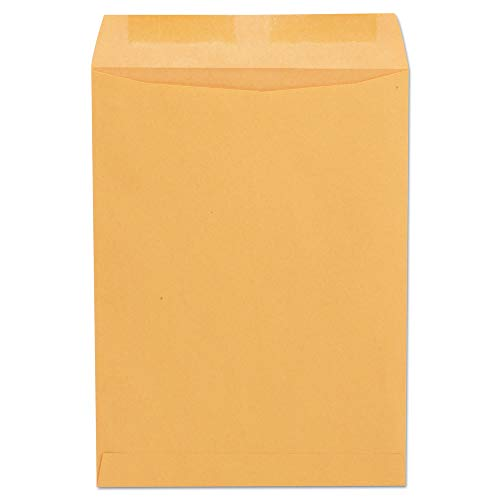 Universal Catalog Envelopes with Gummed Closure, Center Seam, 24 Lb, 9