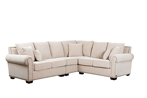 Italian Design Fabric Sectional Sofa (Abbyson Mona Italian Fabric Sectional Chair)