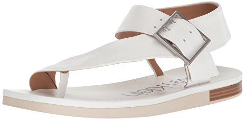 Calvin Klein Women's Rivita Sandal, Platinum White, 9 Medium US by Calvin Klein