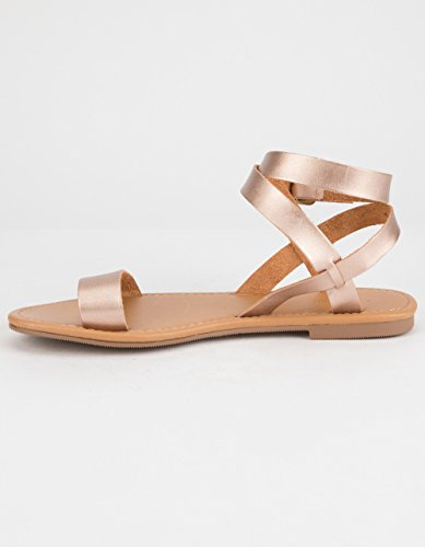 City Classified Basic Ankle Wrap Sandals Rose xsJzm