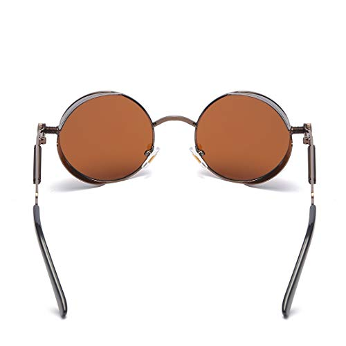 Color Aluminio Frame de Lente Gray Lens Hombre de de Mujer de Frame Sol Gafas Sol Black Sakuldes superligero Tea Gafas para Lens de polarizada Borrow Pwaq66FB