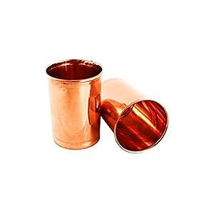 Copper Glasses (350 ml) -Set of 2